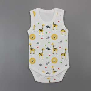 Yellow Forest Sleeveless Bodysuit-imababywear