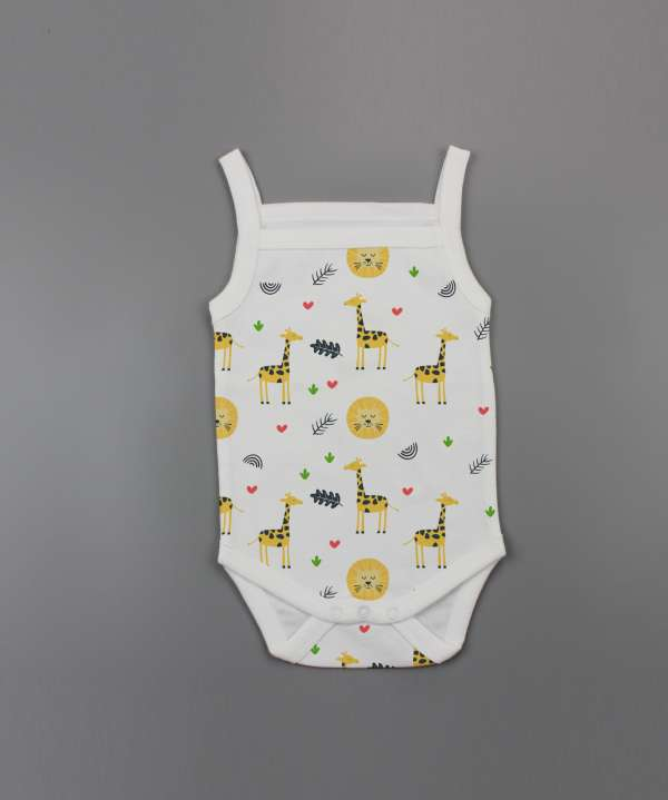 Yellow Forest Strapy Bodysuit-imababywear