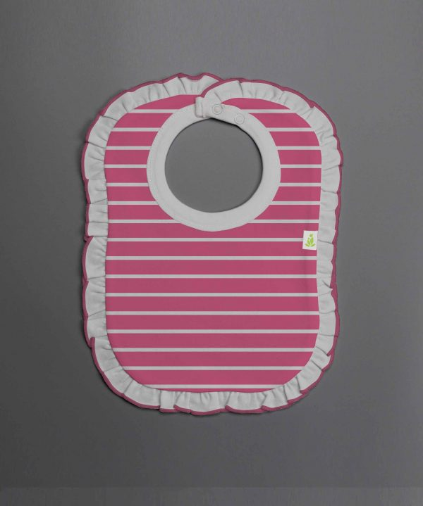 raspberry-stripes-frill-bib